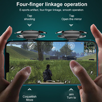 Nuovissimo ABS placcatura L1R1 Controller Joystick per Game Shooter Controller tastiere Grip Phone Gamepad per IPhone telefono Android