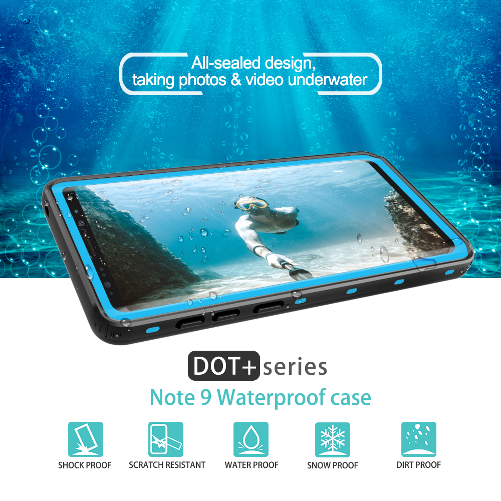 Image 2 - IP68 Water Proof Phone Case For Samsung Galaxy Note 10 Plus 9 8 10+ Waterproof Protect Swimming Case For Samsung S9 S10 PlusFitted Cases   -