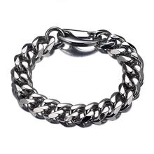 Top Quality 13/15/17/19mm Men Bracelet Stainless Steel & Bangle Finished Male Accessory Hip Hop Party Rock Jewelry