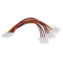 4 pinos ide 1 a 3 molex ide fêmea fonte de alimentação divisor exentsion adaptador cabo