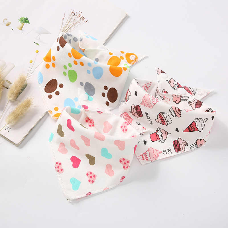 2019 아기 Bibs 소년 소녀 두건의 물 흡수 턱 받이 천을 삼각형 코튼 베이비 스카프 Burp Baby Christmas Accessories