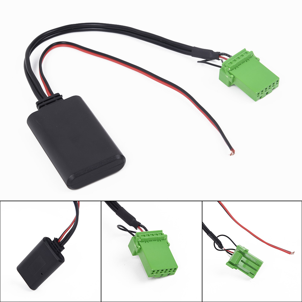 Car <font><b>Bluetooth</b></font> Interface <font><b>Adapter</b></font> <font><b>AUX</b></font> For Acura RDX Tsx MDX Csx ABS 5-<font><b>12V</b></font> Useful image