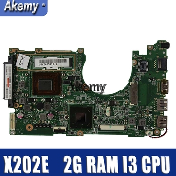 Amazoon  X202E Laptop motherboard for ASUS X202E X201E S200E X201EP Test original mainboard 2G RAM I3 CPU