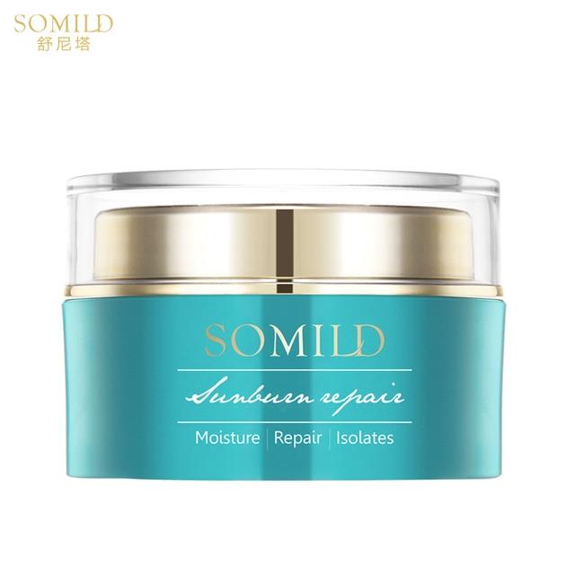 SOMILD Green Algae Sunburn Repair Gel Sunscreen Face Cream Moisturizer After Sun Repair Whitening Cream Natural Ingredients 120g 1