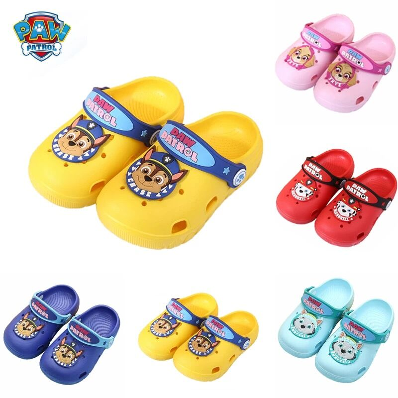 New Genuine Paw Patrol Boys Girls Sandal Baby Summer Beach Shoes Plastic SLIPPER Baby Waterproof Breathable Shoes Children Toy