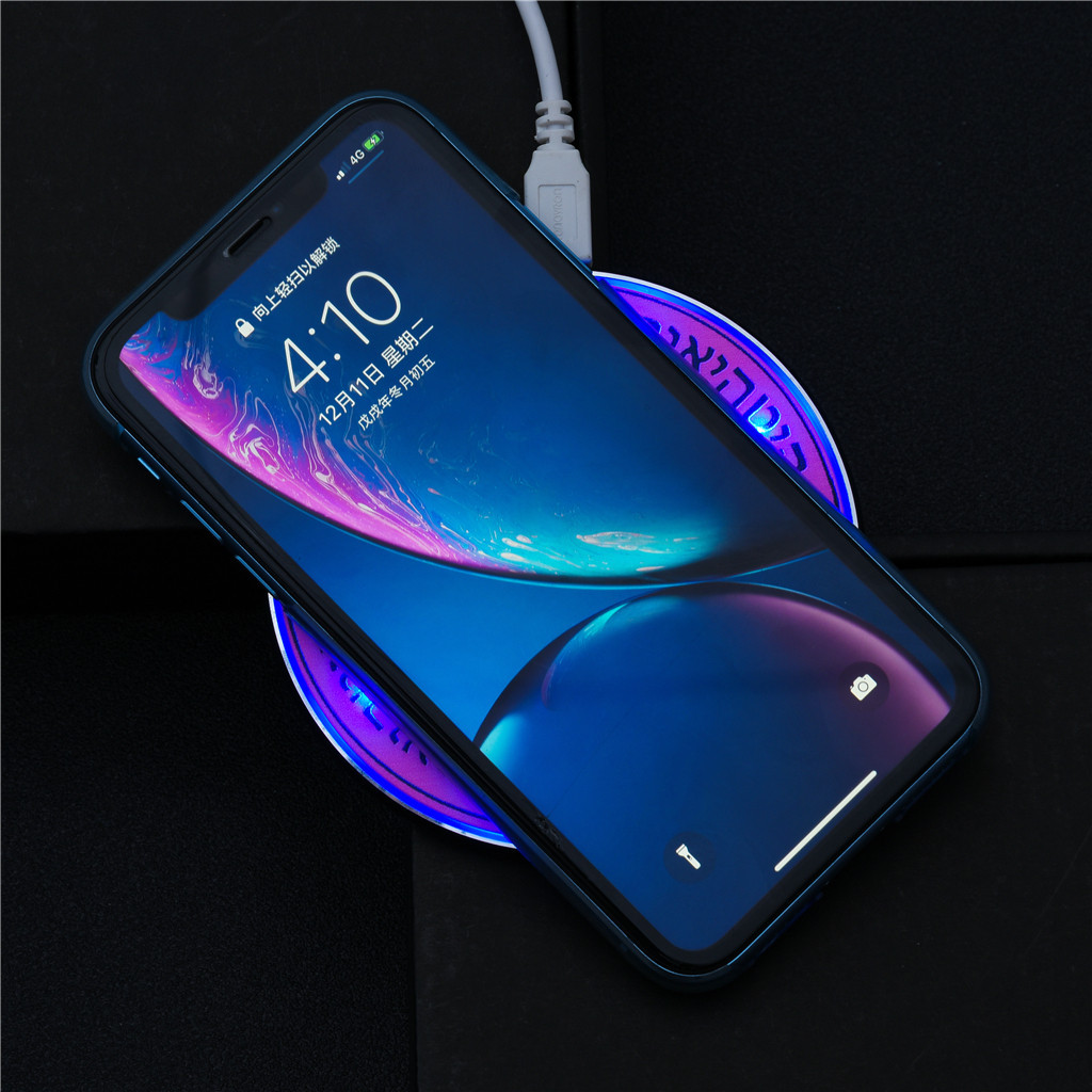 Charging-Pad Magic-Array Wireless-Charger Qi Phone-Over-Voltage Samsung for Glowing Short