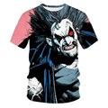 2021 летняя футболка с 3D-принтом клоуна и пламени, футболка с коротким рукавом, Мужская футболка с круглым вырезом, женская и мужская футболка в стиле Харадзюку, 5xl