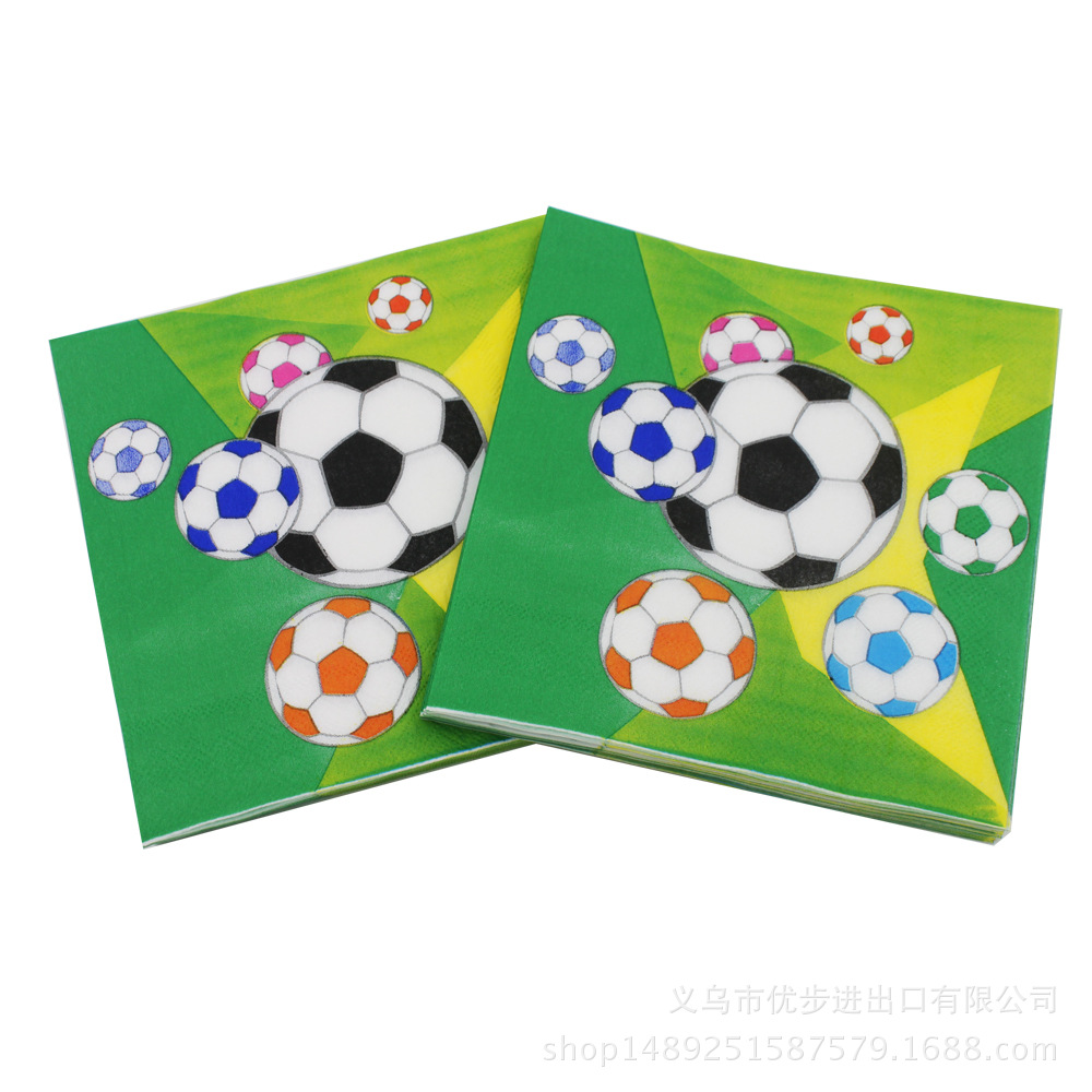 [Currently Available] 2018 World Cup Football Napkins Disposable Kleenex Party Paper Bar Restaurant Decoration