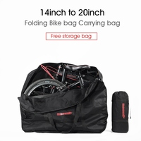 141620 Folding Bike Carrier Waterproof Loading Vehicle Pouch Bicycle Carry Packing Bag Foldable Bicycle Transport Bag