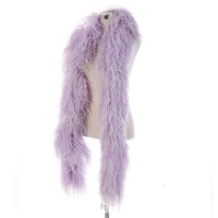 10 ply Ostrich Feathers boa 1M Fluffy feather ostrich shawl scarf for Wedding party Dress decoration High Quality Free shipping
