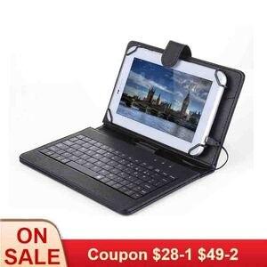 Image 1 - Складной магнитный чехол книжка из искусственной кожи, складной чехол подставка без клавиатуры, стилус для планшета Android 7, 8 дюймов