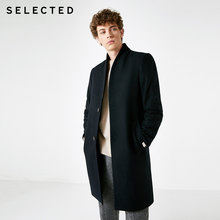 SELECTED New Men's Wool Coat Simple Business Jacket Winter Long Woolen Outwear T | 418427539(China)