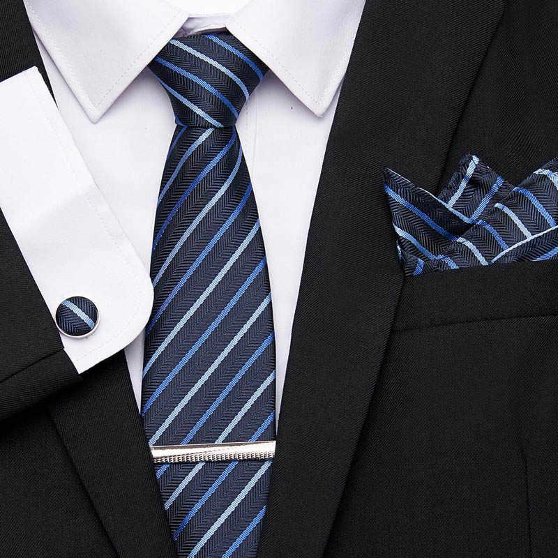 Para Hombres Camisa Gemelos De Plata Clip de Corbata Pin Boda Fiesta Navidad Regalo Caja Nuevo Reino Unido TS06