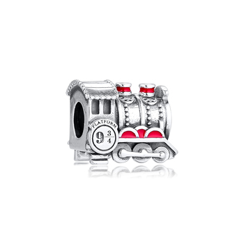 Hogwarts Express Train Charm Original 925 Silver Jewelry For Charms Bracelets & Bangle Woman DIY Beads For Jewelry Making