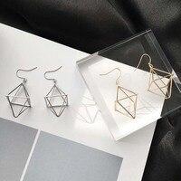 1 paire minimaliste creux polygone boucles d'oreilles pour femmes lanterne 3D stéréoscopique Punk boucles d'oreilles fête bijoux
