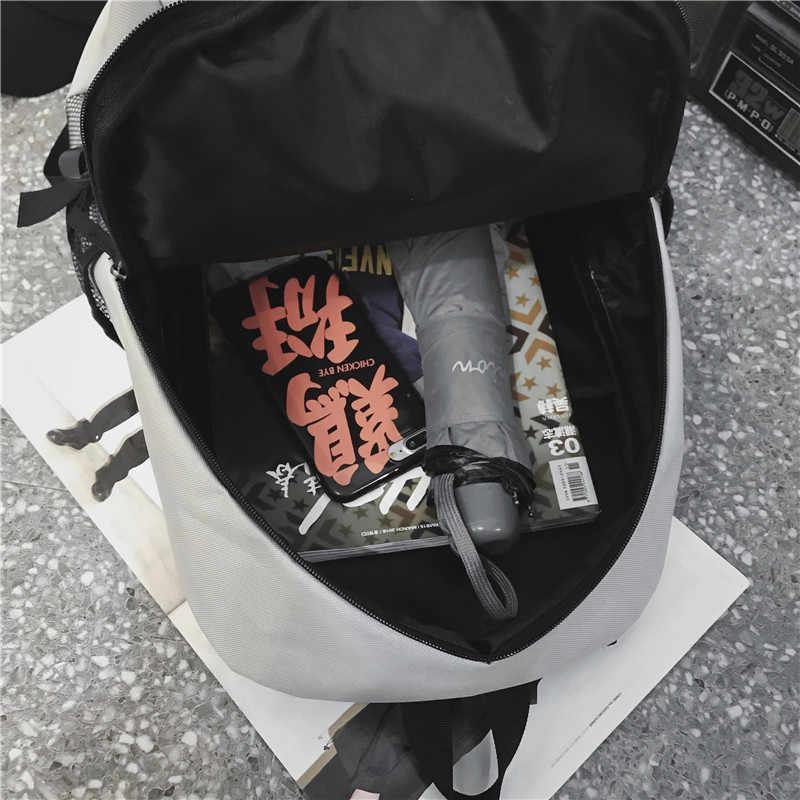 Школьный мужской кампус пара модный тренд колледж студентов школьный рюкзак оригинальный Tide бренд досуг путешествия рюкзак