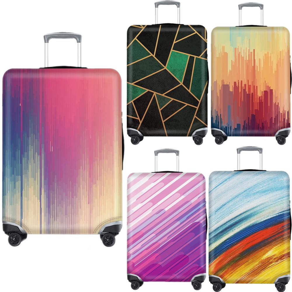 Fashion Luggage Case Protective Cover Creative Color Waterproof Elastic Suitcase Cover Apply 18-32Inch XL Travel Accessories