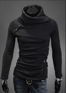 Image 4 - 2019 nouveaux hommes mode chaud à manches longues col roulé chandail veste décontracté col chandail rue confortable chandail XS 4XL