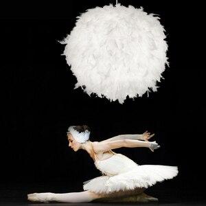 Image 5 - Lampe suspendue à plumes en forme de rêve, design romantique, luminaire décoratif, idéal pour un salon ou une chambre à coucher