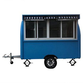 custom made food truck concession food trailer Blue Food Truck Concession Food Trailer
