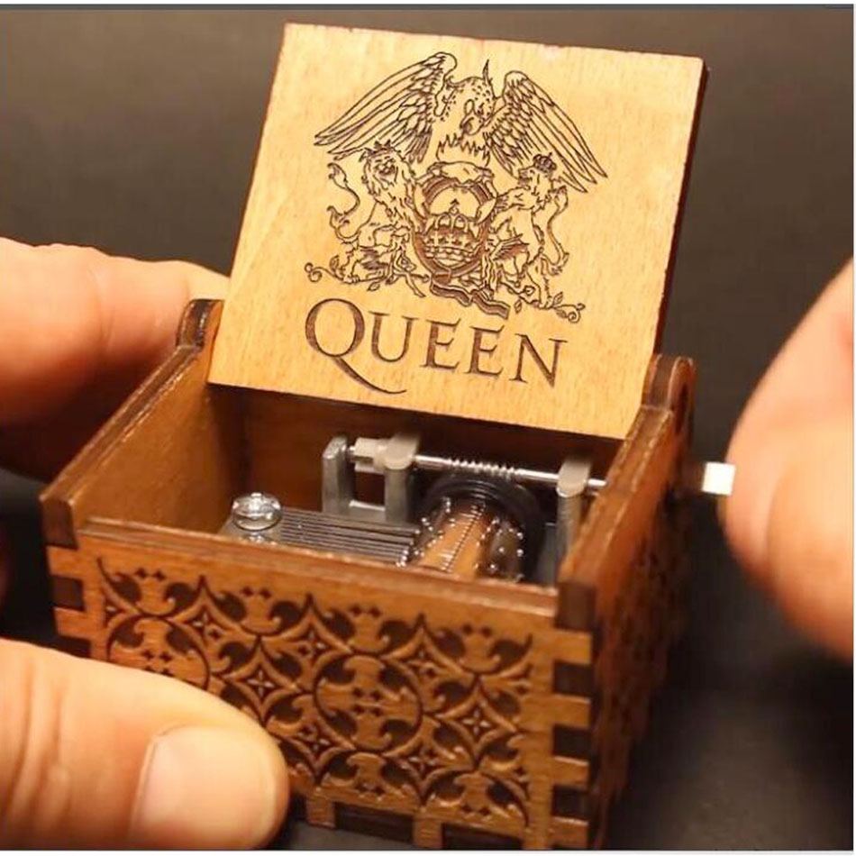 Music Box Queen Game Of Thrones Wooden Music Box Antique Carved Wooden Hand Crank Music Boxs Birthday Gift