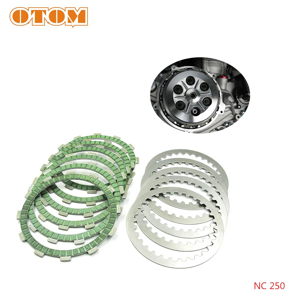 OTOM Motocycle Steel Clutch Friction Plates Disc Set For ZONGSHEN NC250 NC450 KAYO T6 K6 BSE J5 RX3 ZS250GY/450GY-3 4 Valves