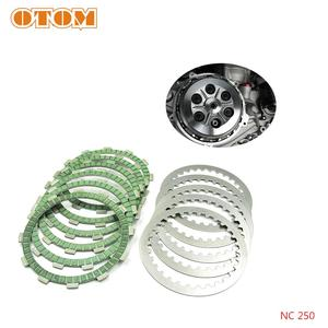 OTOM Motocycle Steel Clutch Friction Plates Disc Set For ZONGSHEN NC250 NC450 KAYO T6 K6 BSE J5 RX3 ZS250GY/450GY-3 4 Valves(China)