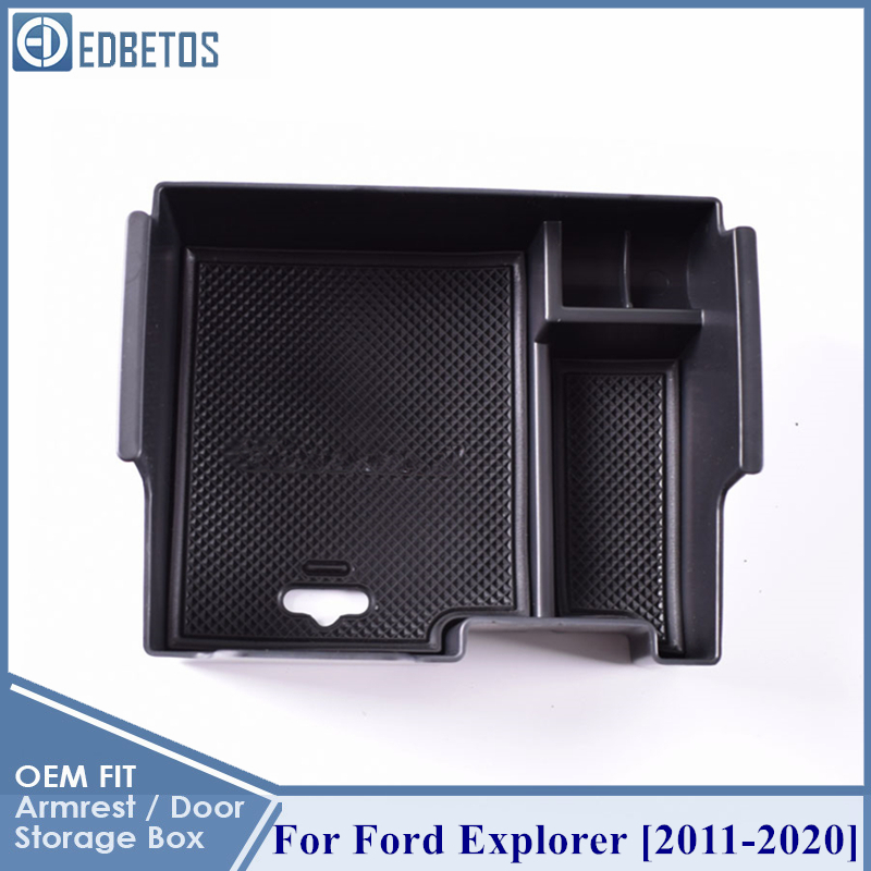 For Ford Explorer 2011-2020 Car Glove Box Organizer Armrest Secondary Storage Center Console Tray For Ford Explorer Accessories