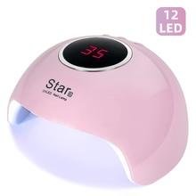 Star 6 suszarka do paznokci lampa UV do paznokci do manicure suszarka do paznokci żel do lodu polski lampa 12 LED czujnik automatyczny 30s 60s 90s narzędzia do paznokci