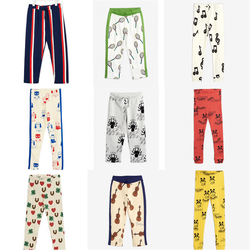 Mini R New Autumn Kids Pants Girls Sport Wear Outfits Cartoon Thanksgiving Toddler Baby Girl Legging Christmas Boy Clothes 1-8Y 1