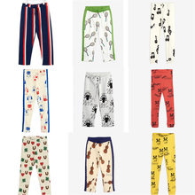 Mini r novo outono crianças calças meninas esporte vestir roupas dos desenhos animados ação de graças da criança do bebê menina legging natal menino roupas 1-8y