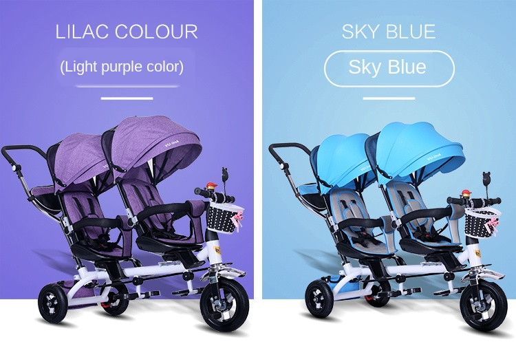 triciclo infantil The Children Tricycle Twin Baby Cart Double Bicycle Light Baby Stroller 3 Wheel Tricycle  Baby Bike