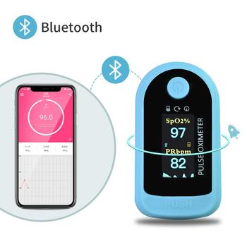 Fingertip Pulse Oximeter Bluetooth Finger Clip Pulse Rate Oximeter OLED Display Home Oxygen Saturation Blood Pressure Monitor daily carry wearable wrist pulse oximeter fingertip oled display with usb cable pc software healthcare monitor cms50f