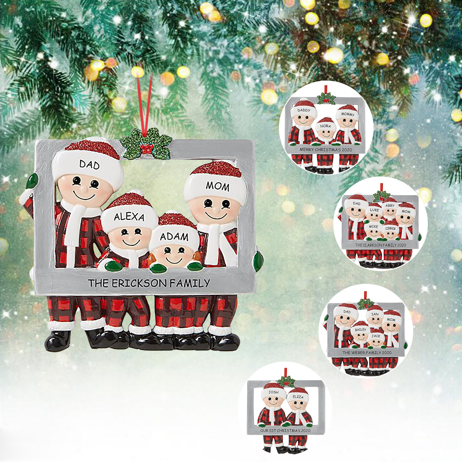 Popular Custom Made Christmas Gifts For 2021 2021 Family Custom Christmas Decoration Christmas Tree Pendants Hanging Ornaments Diy Santa Claus Gift Greeting Card Home Decor Best Price 5f10 Cicig
