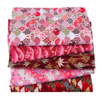 5pcs 20x25cm Japanese Printed Cotton Fabric Bundle For Sewing Dolls &Bags, Quilting material DIY Patchwork Needlework 4