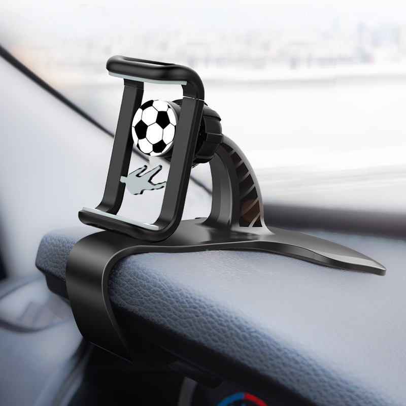 Dashboard Car Phone Holder HUD Style Mount Holder 360-Degree Rotation Adjustable Mobile Clip Stand Fit For IPhone/Xiaomi