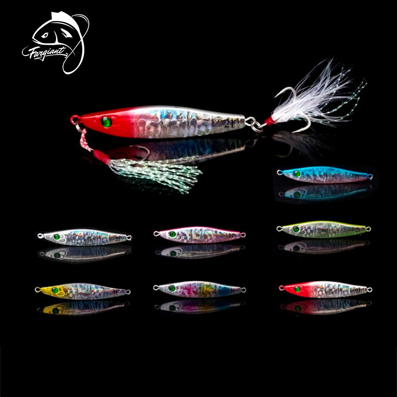 Fargiant Spinner Jigging Lure Fishing Bait Sequins Perch Spoon Hard Lure For Spanish Mackerel Winter Ice Fishing Sea Metal Jig