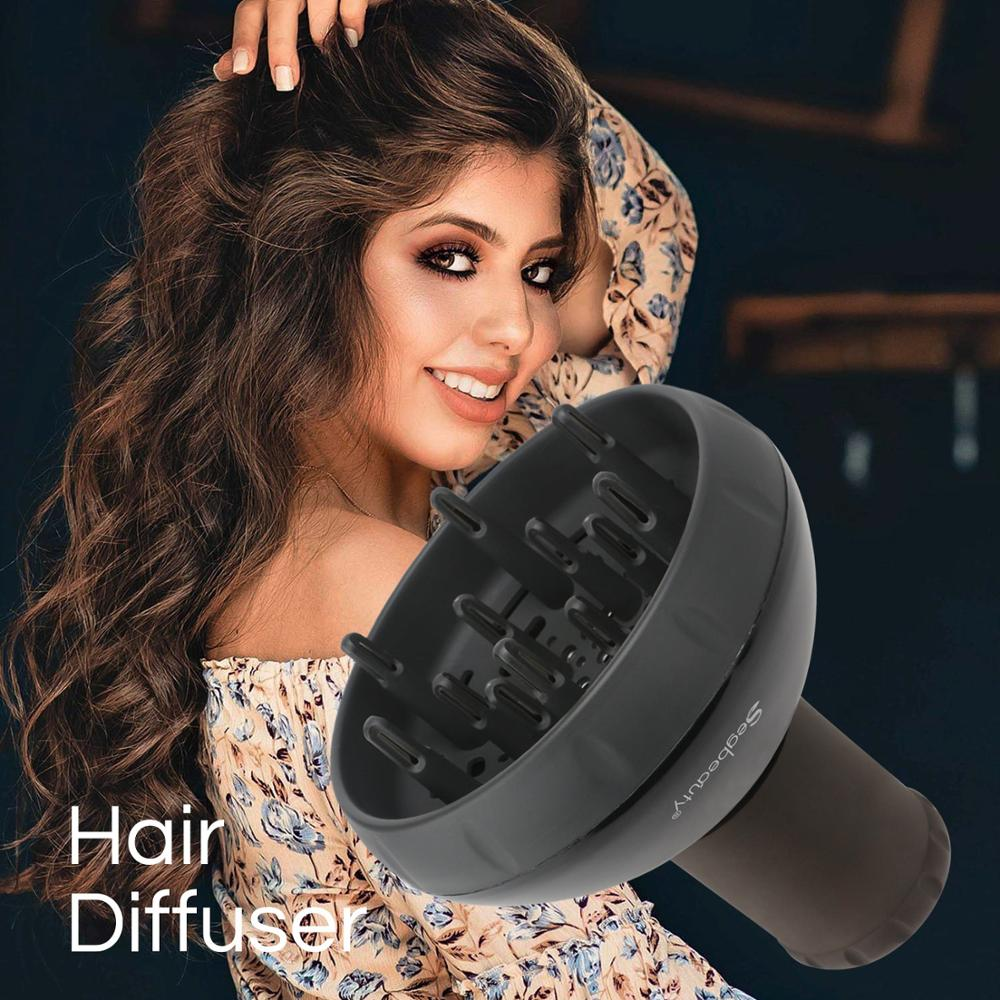 Opened Box Diffuser For Hair Dryer Upgraded Hair Diffuser For Curly Wavy Hair Fitting Blow Dryer Salon Frizz-free Diffuser