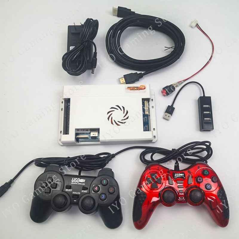134 шт. 3D игры Pandora 2448 Ретро видеоигры печатная плата + 2 шт. Геймпад + usb-разветвитель + HDMI кабель + адаптер питания + набор переключателей