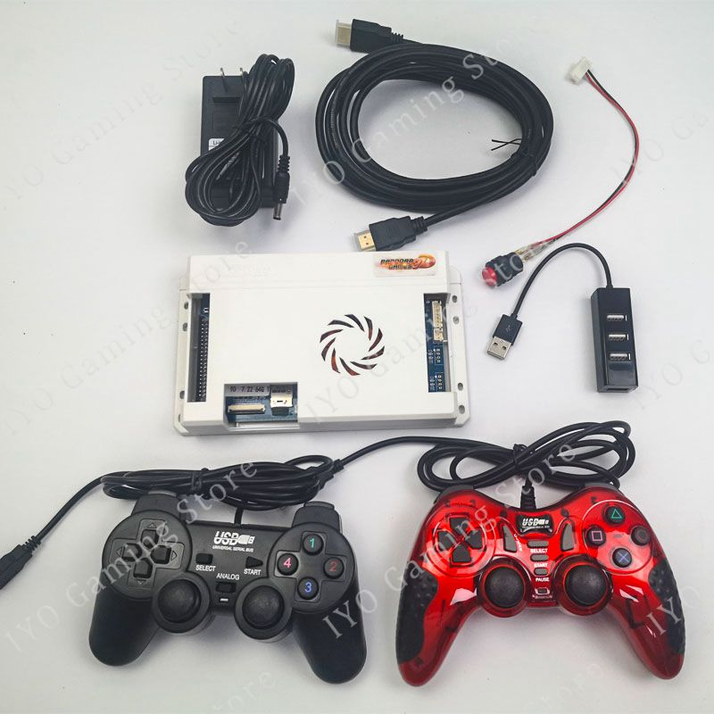 134pcs 3D Games Pandora 2448 Retro Video Games PCB Board + 2pcs Gamepad + USB Splitter+ HDMI Cable + Power Adapter + Switch Set(China)