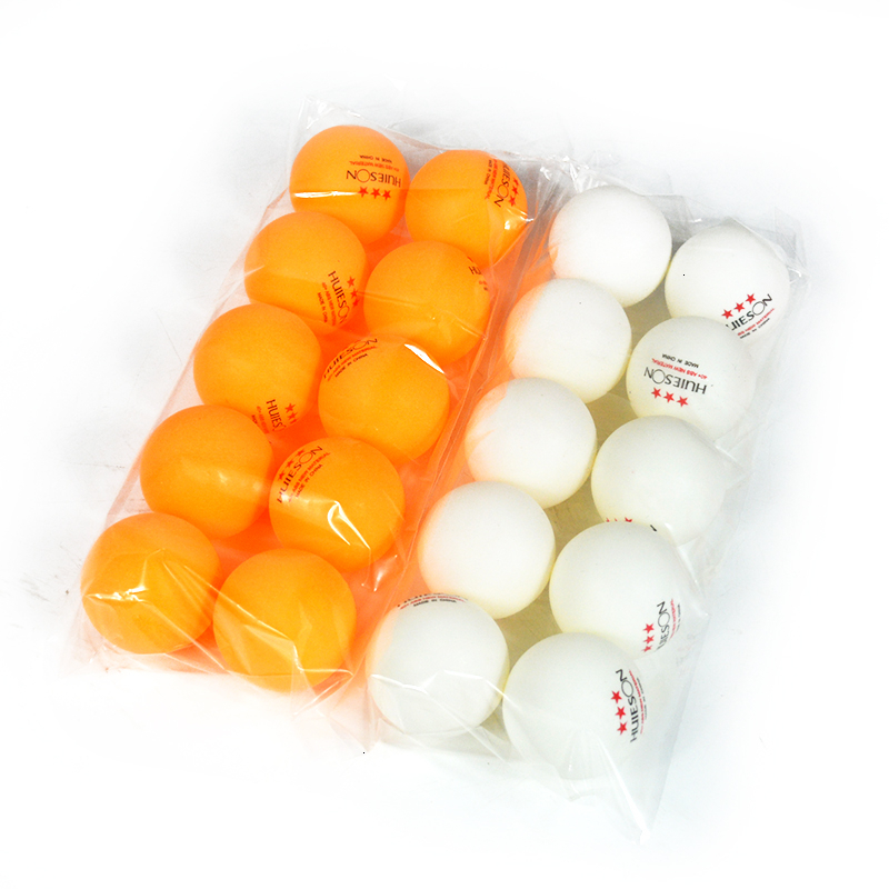 HUIESON 10Pcs/Pack Table Tennis Balls 3 Star 2.8g 40+mm Practice Training Balls New ABS Plastic Ping Pong Balls For Club Match