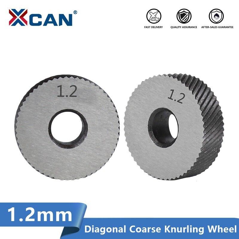 XCAN Lathe Wheel Knurling Tools 2pcs 1.2mm Diagonal Coarse Knurling Wheel