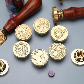 1PC wosk Retro pieczęć pieczęć drewniany uchwyt pieczęć wosk pieczęć na koperta na list dekoracji pieczęć rękodzieło na prezenty tanie i dobre opinie CN (pochodzenie) Stamps craft Pieczątka standardowa Drewna dekoracja