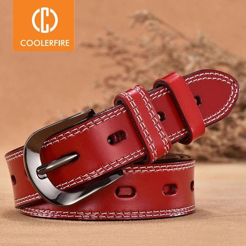 Women Genuine Leather Belt For Female Strap Casual All match Ladies Adjustable Belts Designer High Quality Brand