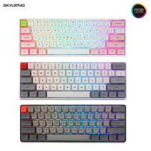 Skyloong SK61 Mini Mechanical Gaming Keyboard RGB Backlit PBT Keycaps Layout Wired Gaming Keyboard IP6X Waterproof Programmable