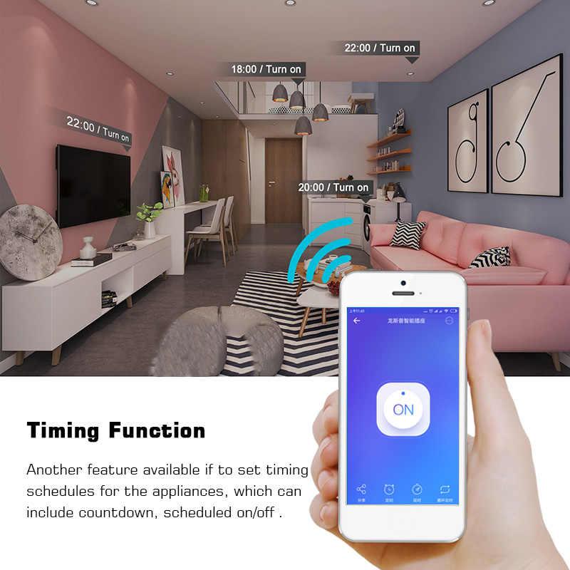 WiFi умная розетка 10А ЕС вилка беспроводной выход пульт дистанционного управления Переключатель синхронизации работа с Amazon Alexa/Google для Android IOS APP