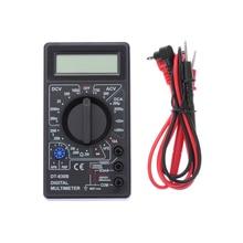 DC Вольт AC ЖК-дисплей цифровой DT-830B пластик многофункциональный тестовый Руководство ЖК-дисплей Авто Диапазон Цифровой ручной мультиметр