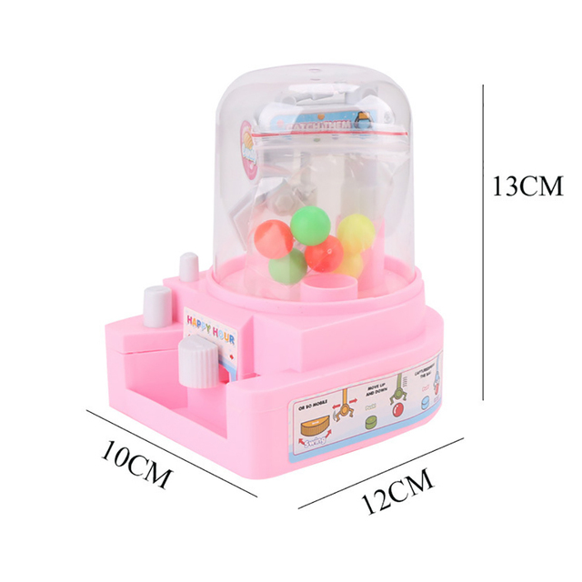 Children Mini Manual Catching Ball Machine Candy Gripper Toy Interactive Table Game Simulation catching ball toys For Kids Gifts