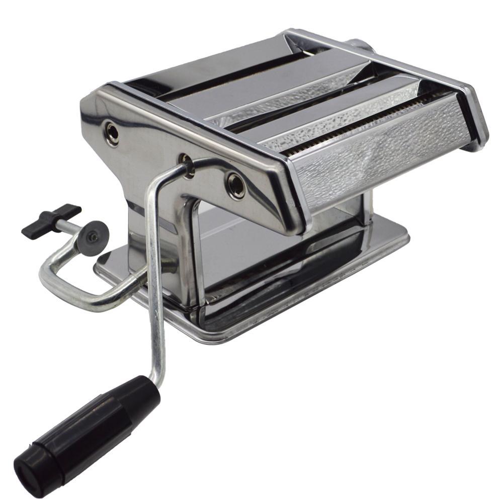 Pâtes en acier inoxydable électrique manuel double usage fabricant de nouilles à la main Spaghetti nouilles presse Machine rouleau coupe-pâte