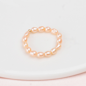 Image 4 - ASHIQI Small Natural Freshwater Pearl Couple Rings for Women Real 925 Sterling Silver Jewelry for Women wholesale Fashion Gift